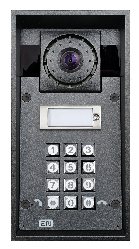 9151101chkw ip force 1 button hd camera keypad photo front hq