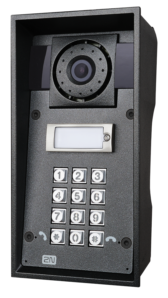 9151101chkw ip force 1 button hd camera keypad photo front right hq